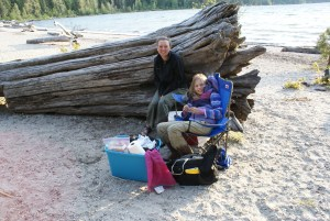 Teresa and Annika at lake Wenatchee