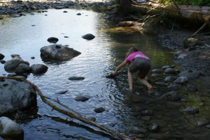 kids in nature, old sauk river
