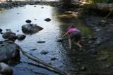 kids in nature, old sauk river