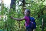 kids in nature, edible berries, old sauk river