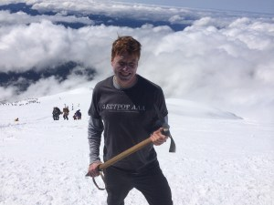 Aaron Theisen on Mt. St. Helens