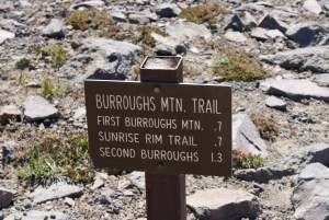 trail marker, sunrise trails, burroughs trail, hiking with children