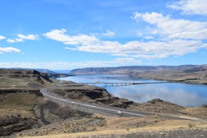 I-90 sightseeing, Vantage, Columbia River, road trip