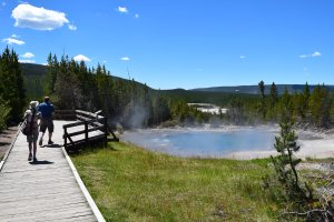back basin trail, norris, yellowstone