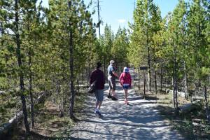 yellowstone, hiking