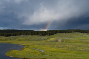 hayden valley, thunderstorm, yellowstone