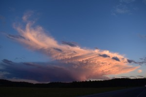 yellowstone, thunderstorm, sunset