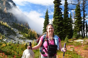 heather pass, north cascades, best hikes for kids, fall hiking, larches