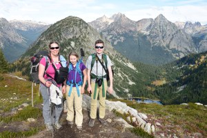 heather maple pass loop, north cascades, best hikes for kids, fall hiking, larches, kids in nature