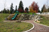 big rock park, sammamish, natural play areas, nature play ground