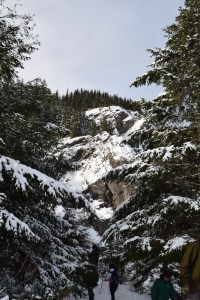 rattlesnake ledges, hikes for kids, winter hiking, north bend, snowy mountains