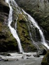 boulder river waterfalls, hiking with kids, winter, fall, spring