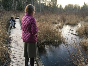hazel wolf wetlands, kids in nature, trails, nature walk, winter,