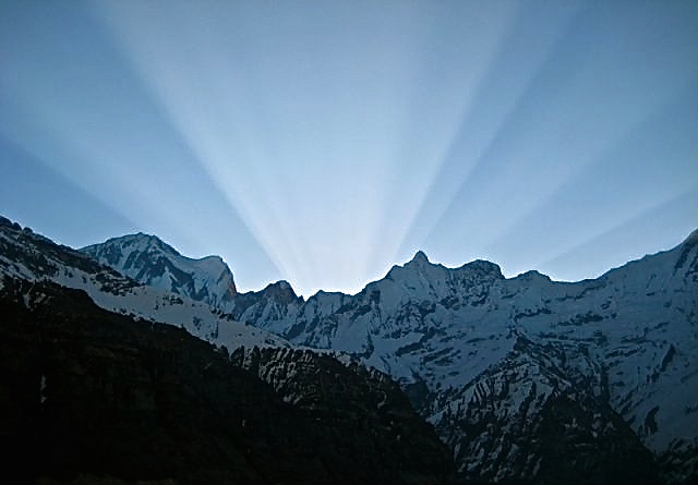Sunrise over Annapurna Sanctuary, 2008