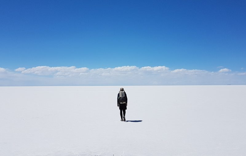 Crossing the Salar de Uyuni