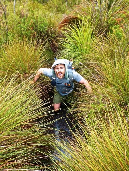 Mud slogging   SW Tasmania
