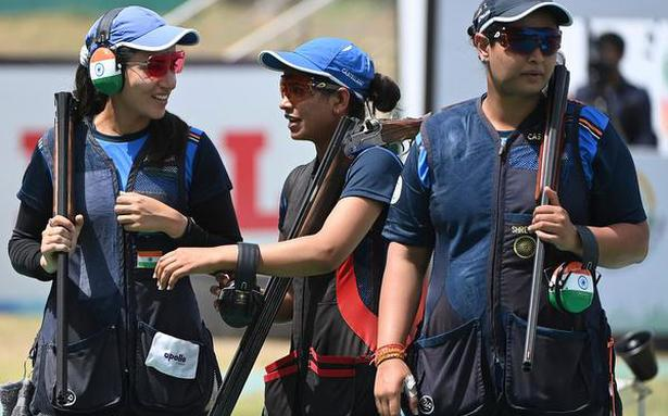Shooting World Cup | Indian teams trap gold in style