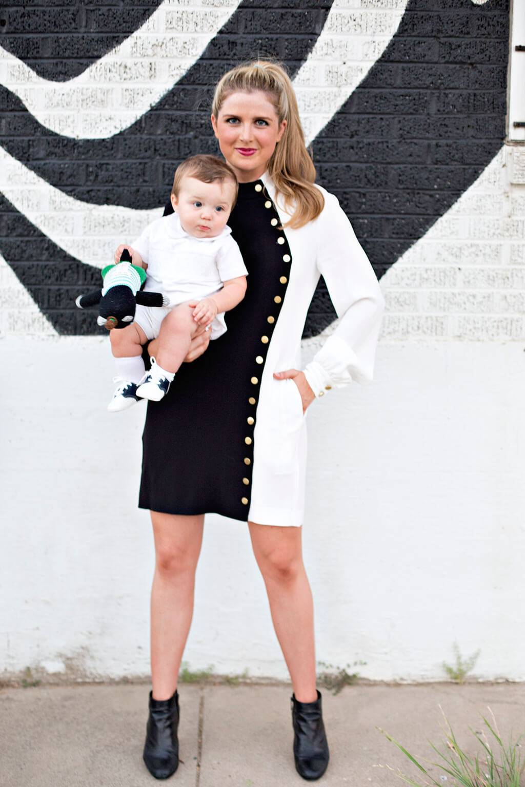 Black and White Dress // Rachel Zoe // Fall Fashion // www.thehisfor.com