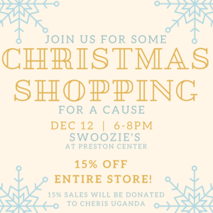 Christmas shopping for a cause // Party at Swoozie's // www.thehisfor.com