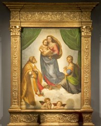 Raphael's Sistine Madonna in its new frame