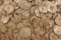 Cleaned silver denarii from the Beau Street Hoard