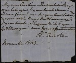 Note from Eleanor Austen, wife of Rev. Henry Austen, Jane's brother, to her niece Caroline bequeathing her the ring
