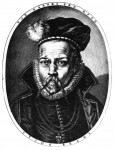 Print showing Tycho Brahe's nose prosthetic