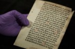 The newly discovered Caxton leaf. Photo courtesy the University of Reading.