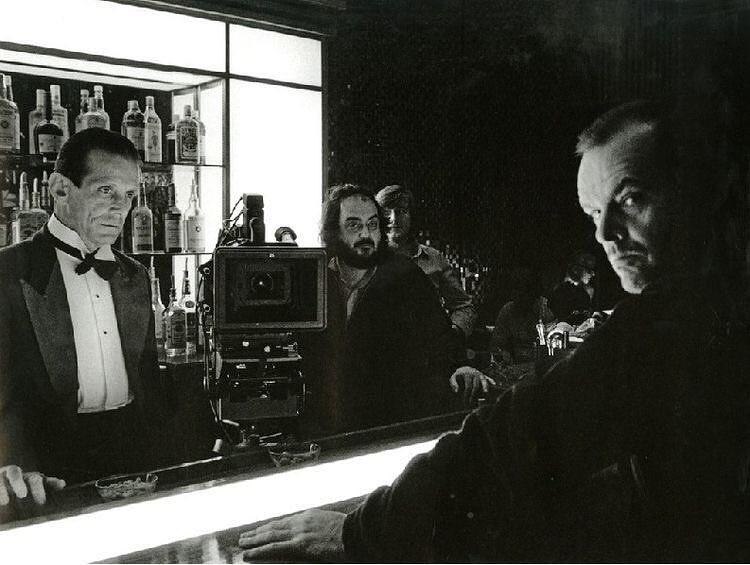 Jack Nicholson, Joe Turkel and Stanley Kubrick behind the scenes of