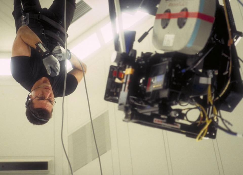 Tom Cruise gives everything into the game. This photo, shooting for