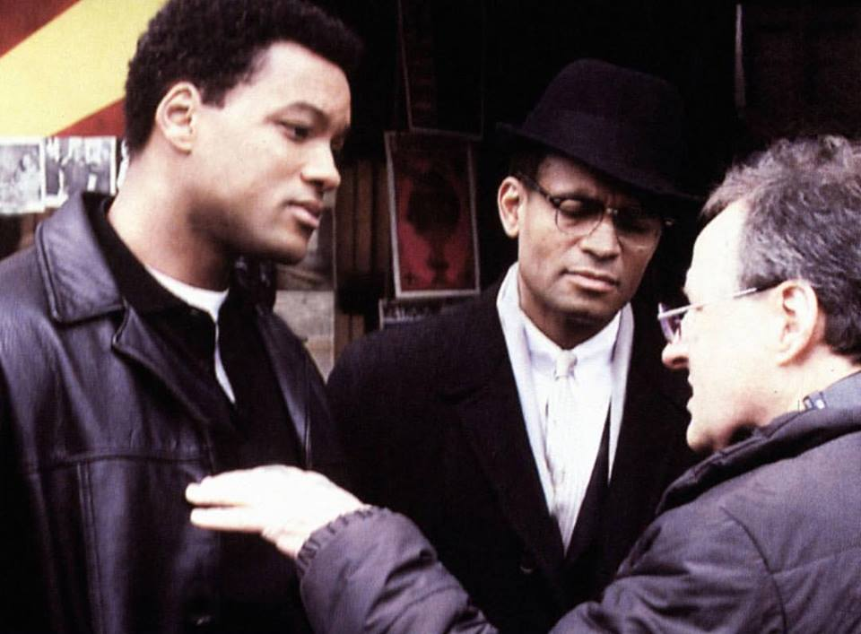 Michael Mann directing Will Smith and Mario Van Peebles behind the scenes of