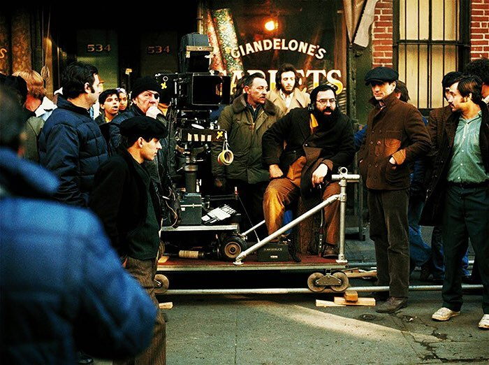 Behind the scenes of Francis Ford Coppola directing Robert De Niro in 'The Godfather: Part II' (1974)