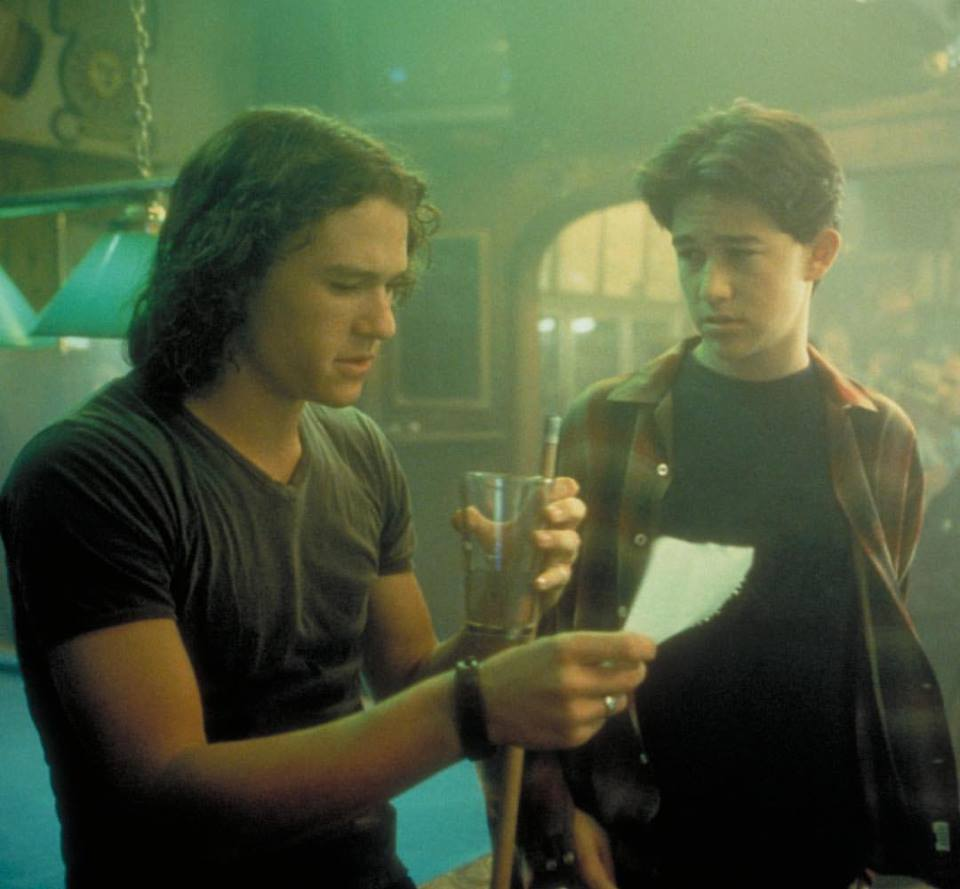 Joseph Gordon-Levitt and Heath Ledger in '10 Things I Hate About You' (1999)