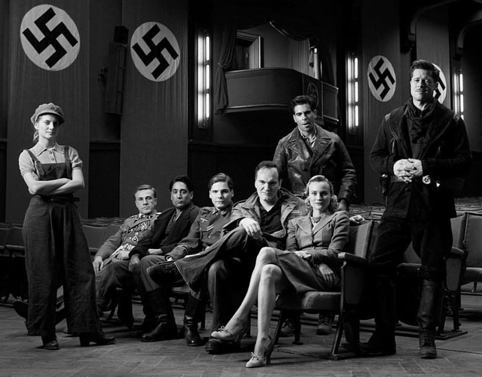 Mélanie Laurent, Christoph Waltz, Omar Doom, Daniel Brühl, Quentin Tarantino, Eli Roth, Diane Kruger and Brad Pitt. Cast and director of