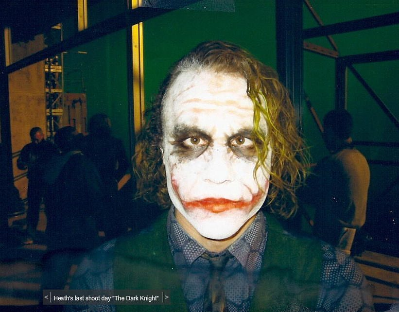 Heath Ledger's last shoot day in 'The Dark Knight' (2008)
