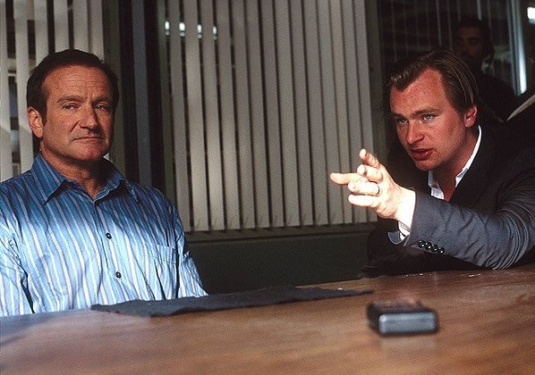 Christopher Nolan directing Robin Williams in 'Insomnia' (2002)