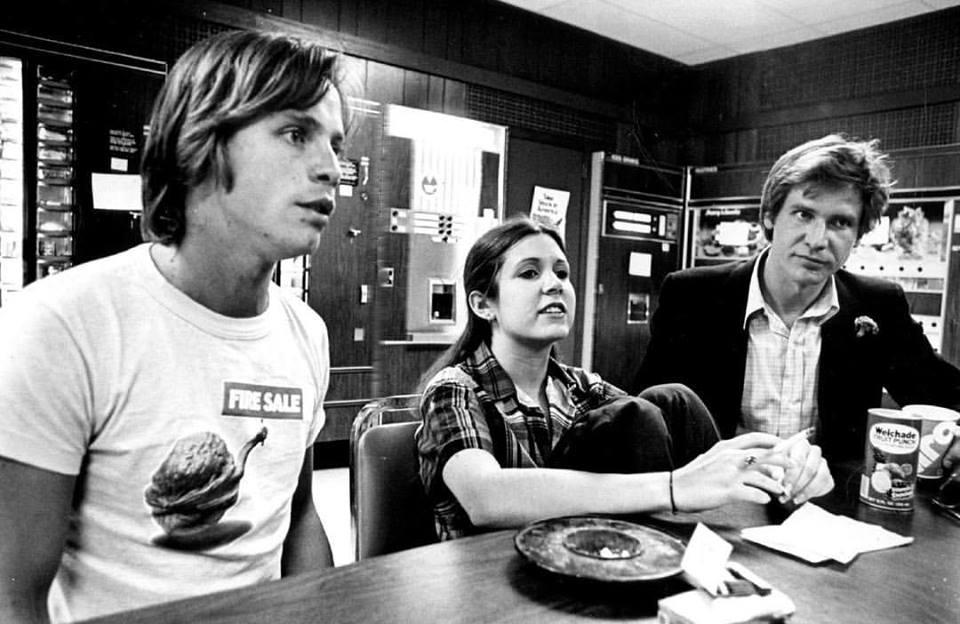 Coffee break for Star Wars Trio, 1977
