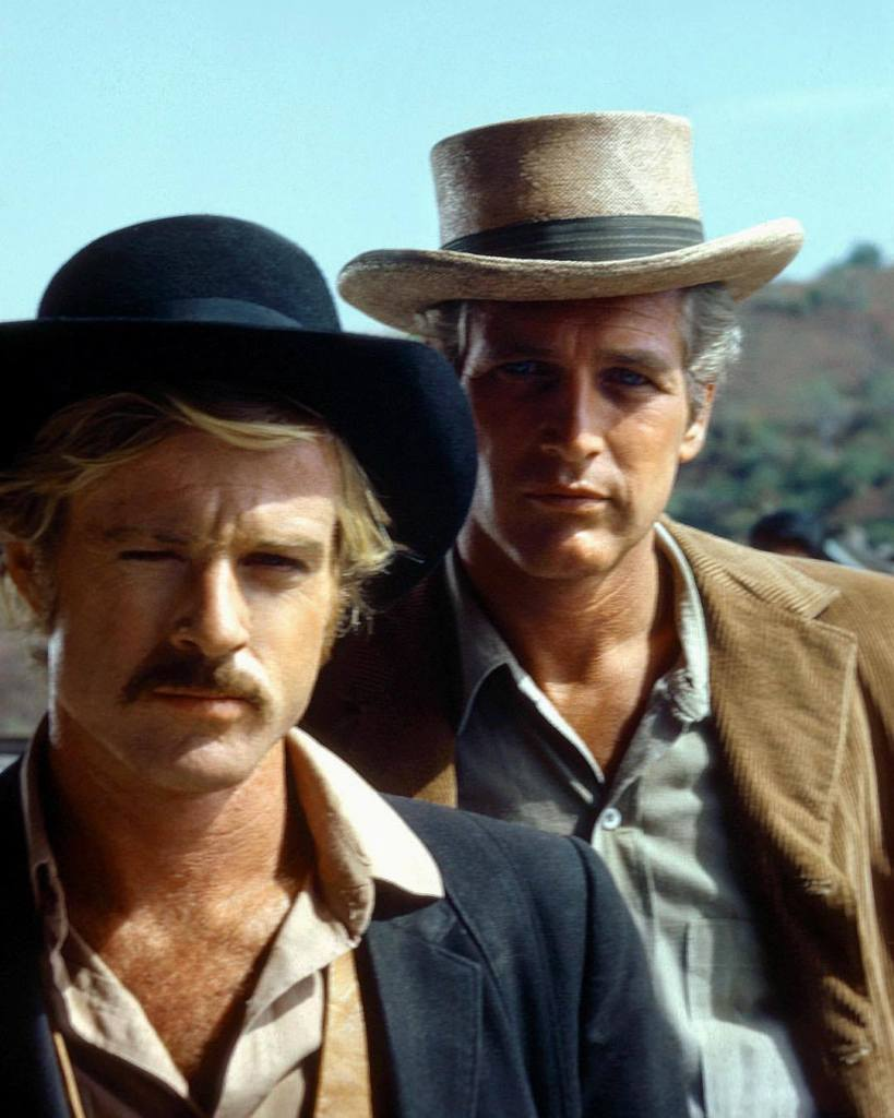 Robert Redford & Paul Newman on the set of 'Butch Cassidy and the Sundance Kid' (1969)