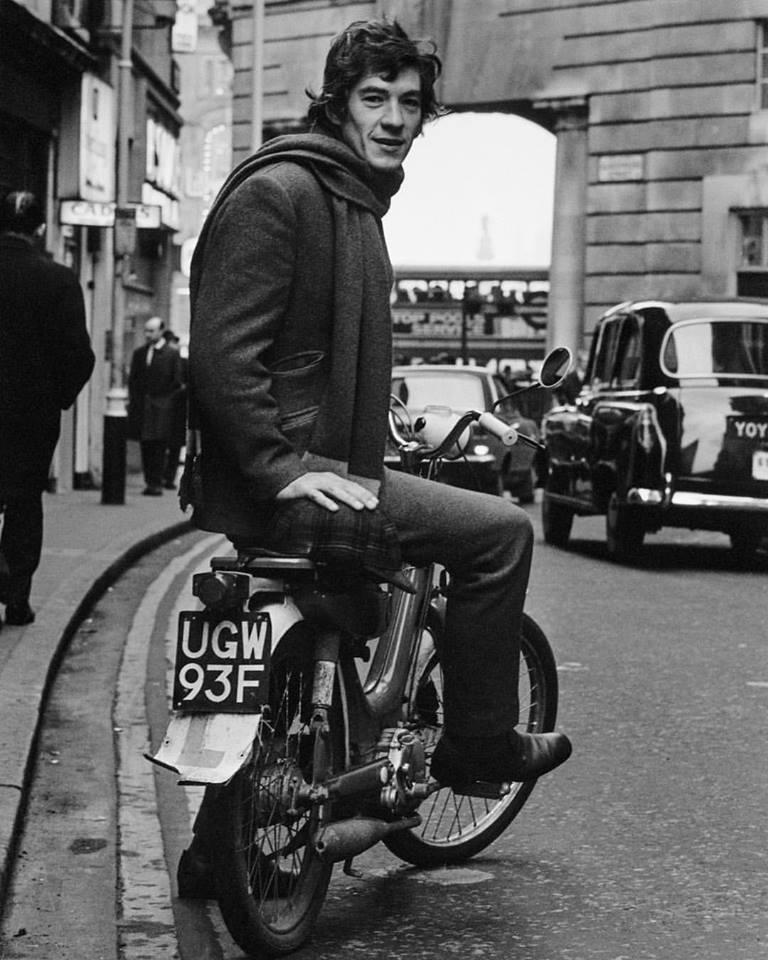 Sir Ian McKellen in London, 1970