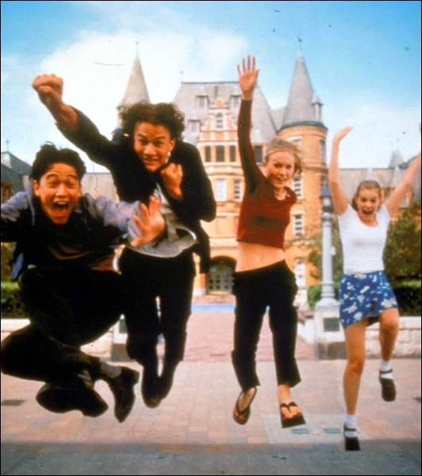 '10 things I hate about you' (1999). Joseph Gordon-Levitt, Heath Ledger, Julia Stiles and Larisa Oleynik.