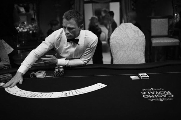 Daniel Craig getting ready for a scene in 'Casino Royale' (2006)