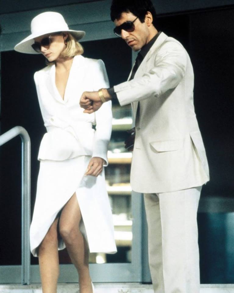 Al Pacino and Michelle Pfeiffer in 'Scarface' (1983)