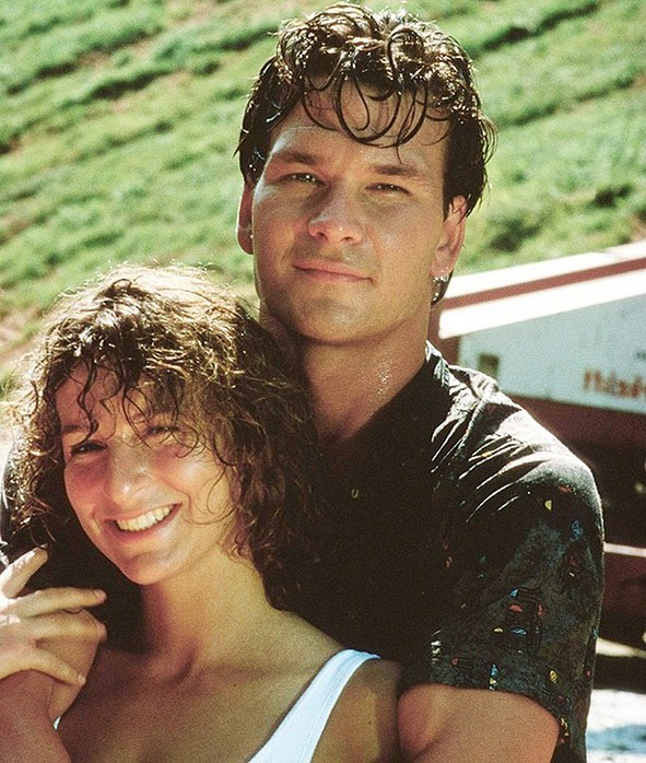Patrick Swayze and Jennifer Grey behind the scenes