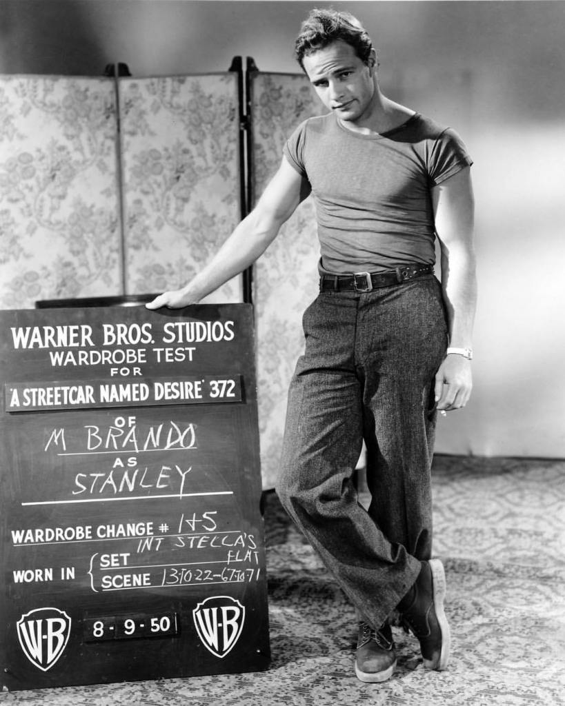 Marlon Brando's wardrobe test for 'A Streetcar Named Desire' (1951)