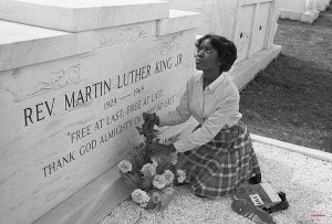 Image of Martin Luther King's epitaph.