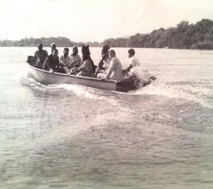 Image of Sir Ahmadu Bello on the Niger River (Kainji Dam)