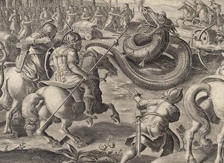 Image of Regulus and the Great Serpent of Bagradas