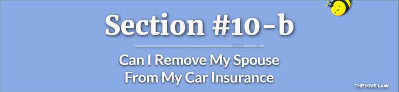Can I Remove My Spouse From My Car Insurance - Can I Drop My Spouse From My Health Insurance If We Are Separated