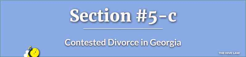 Contested Divorce in Georgia