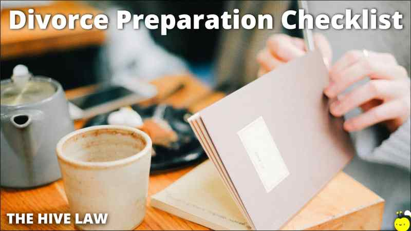 Divorce Preparation Checklist - Checklist For Divorce Preparation